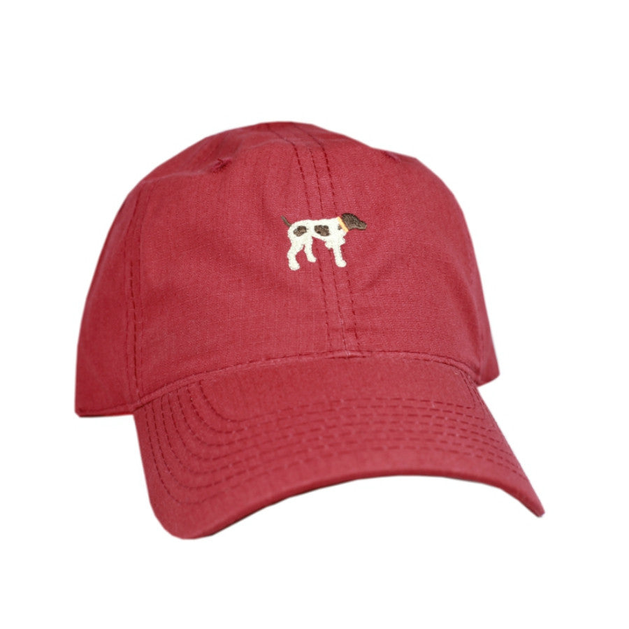 Southern Point - Embroidered Greyton Hat - Red
