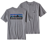 Patagonia P-6 Logo Pocket Tee- Short Sleeve