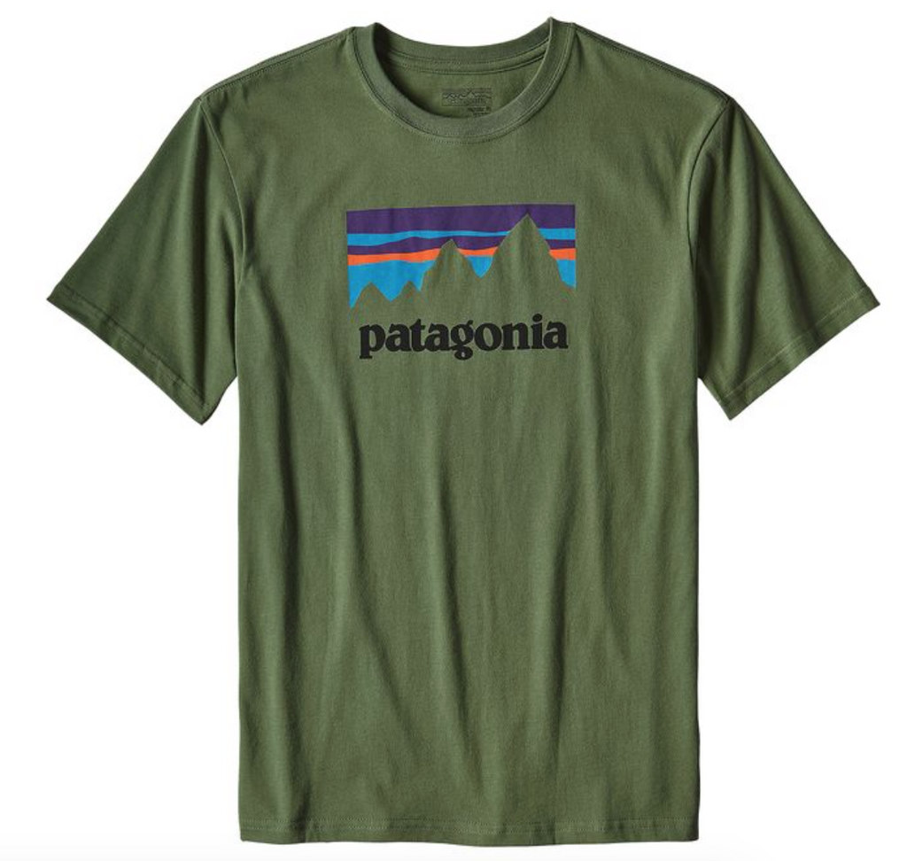 Patagonia M's Shop Sticker Cotton Tee - Short Sleeve -Buffalo Green