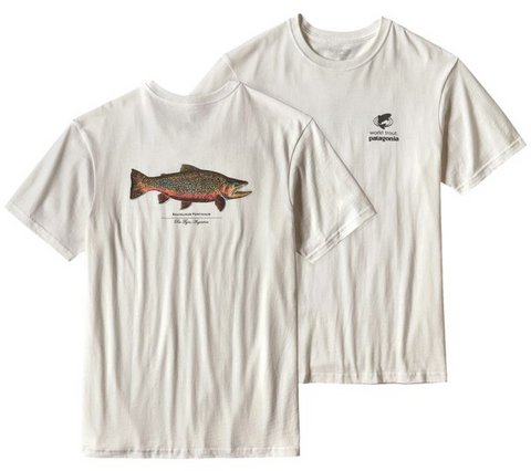Patagonia Men's Short-Sleeved Fitz Roy Trout Cotton