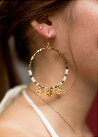 Betsy Pittard - Gypsy Earrings - Champagne
