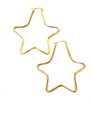 Betsy Pittard - Large Star Hoop Earrings