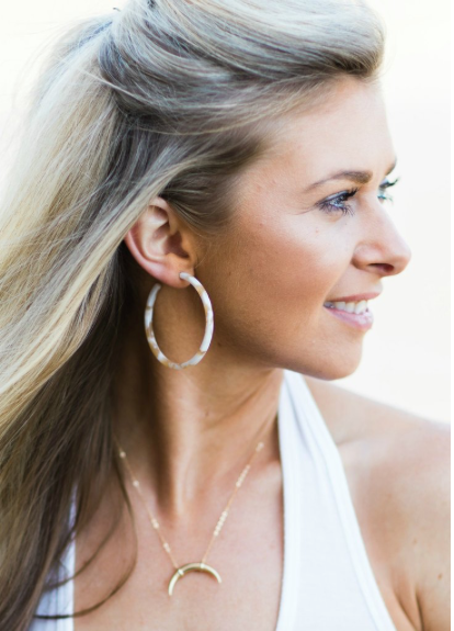 Betsy Pittard - Claire Resin Hoop Earrings