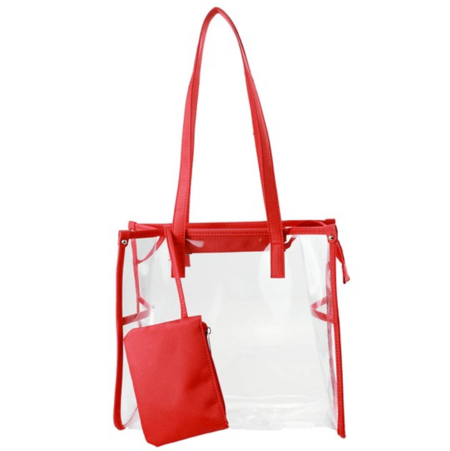 Clear Stadium Bag - Red