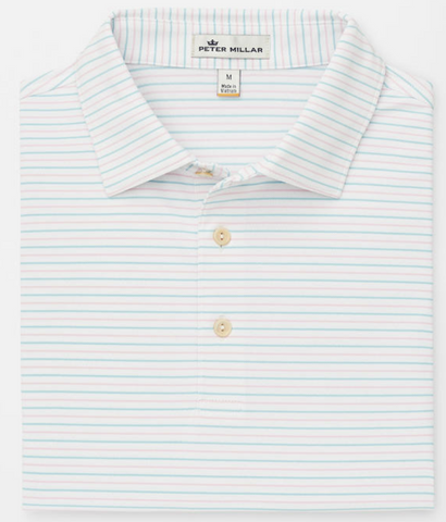 Solid Stretch Jersey Polo- Seashore