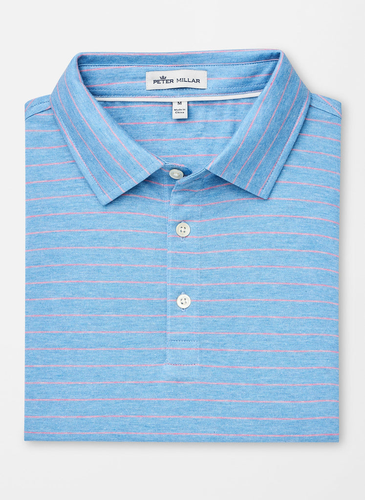 Crown Cool Striped Performance Polo