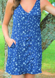Wildflower Dress - Navy