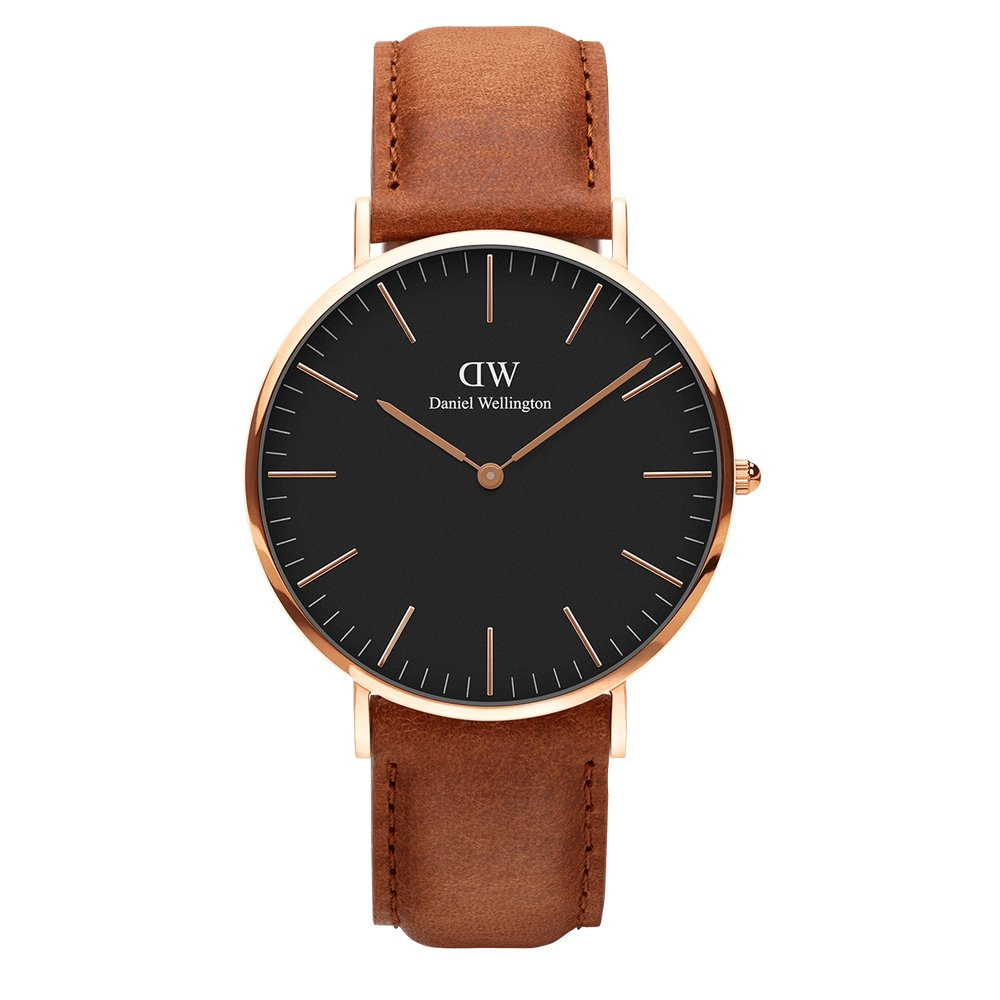 Men's Daniel Wellington - Classic Black Durham Rose Gold