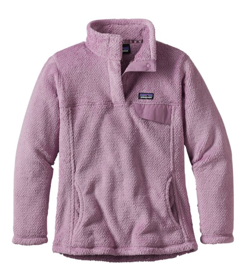 Patagonia Girls' Re-Tool Snap-T® Fleece Pullover- Dragon Purple- Light Violet X-Dye