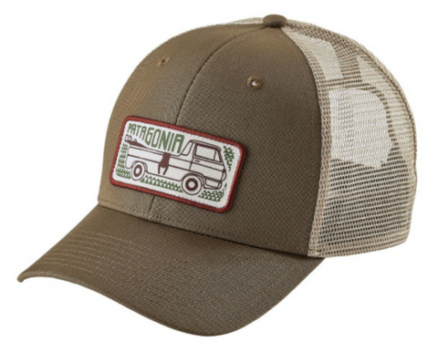 Kid's P-6 Logo Hat - Big Camo: Fatigue Green with Feather Grey