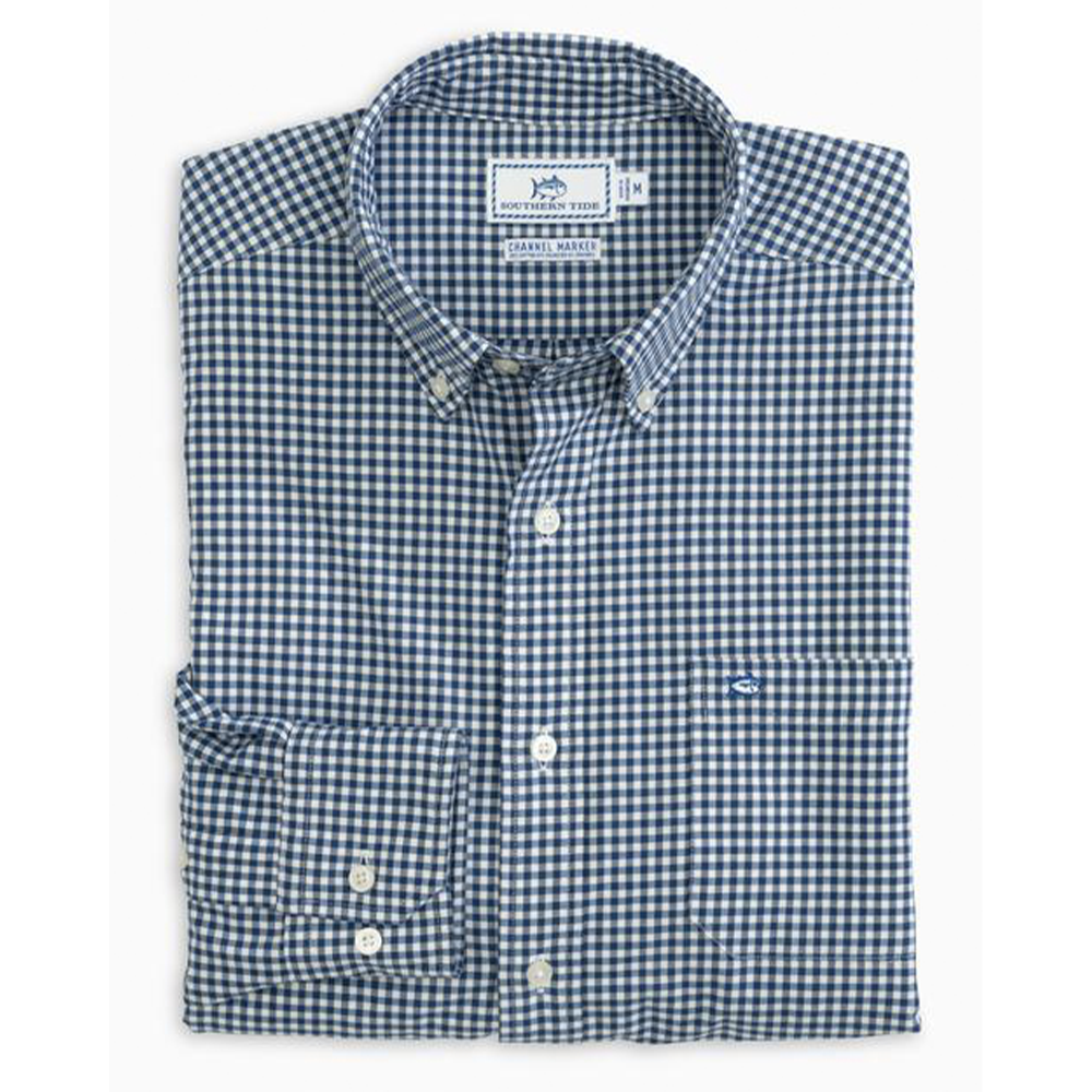 Channel Marker Gingham Button Down