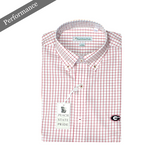 UGA Youth Tattersall Performance Button Down