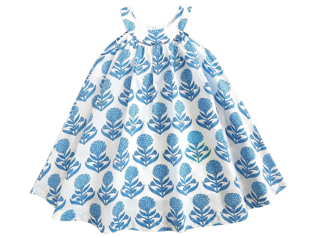 Almirah - Short Dress Uma with Bloomers - Blueberry