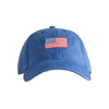 Harding Lane Needlepoint Hat - American Flag Hat - Blue