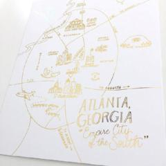 Atlanta Georgia Map Print - Gold Foil