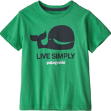 Live Simply Whale T-shirt - Nettle Green