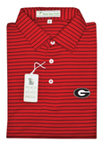 UGA Magnolia Stripe - Red/Black - G - Self Collar