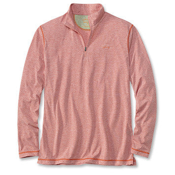 Orvis drirelease® Long-Sleeved Zipneck Casting Shirt - Weathered Red