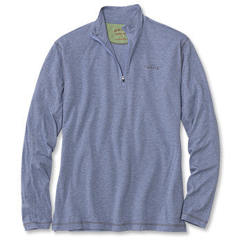 Orvis drirelease® Long-Sleeved Zipneck Casting Shirt - Bleached Blue