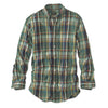 Heritage Washed Poplin Button Down-Pine/Blue