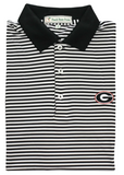 UGA Classic Stripe Polo - G - Black/Whtie - Knit Collar