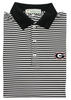 UGA Super G Georgia Classic Stripe Polo - Black & White - Knit Collar