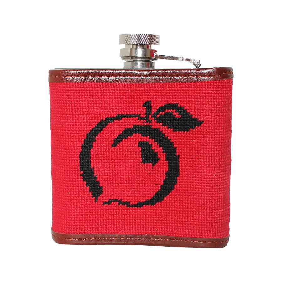Needlepoint University of Georgia Flask