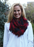 Infinity Scarf - Red & Black