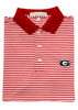 UGA Classic Stripe Polo - G - Knit Collar