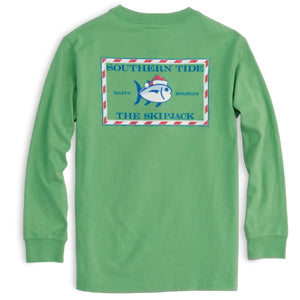 Southern Tide - Youth Long Sleeve Tee - Green Spruce