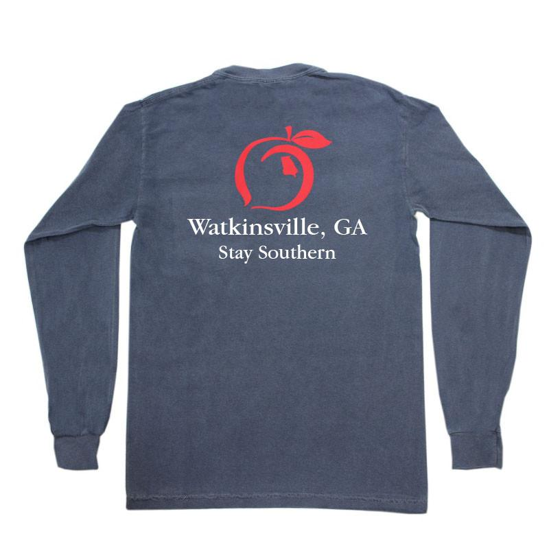 Peach State Pride - Classic Stay Southern - Watkinsville - Long Sleeve Tee