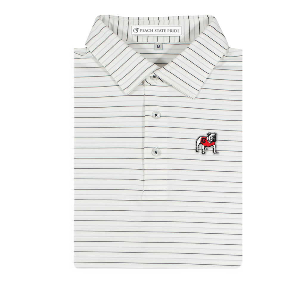 UGA Youth Betula Stripe Polo - Standing Dog