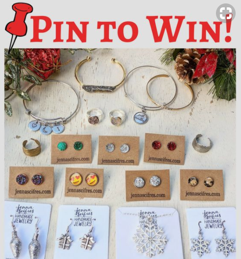 Pin to Win!  Win over $300 in Jenna Scifres Handmade Jewelry