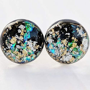 Bright Galaxy Bubble Stud Earrings - Surgical Steel