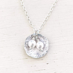 Pearl Nest Necklace Sterling Silver