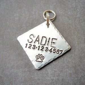 Square Personalized Dog ID Tag