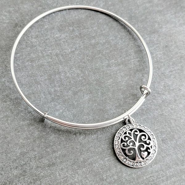 Family Tree Bangle Bracelet