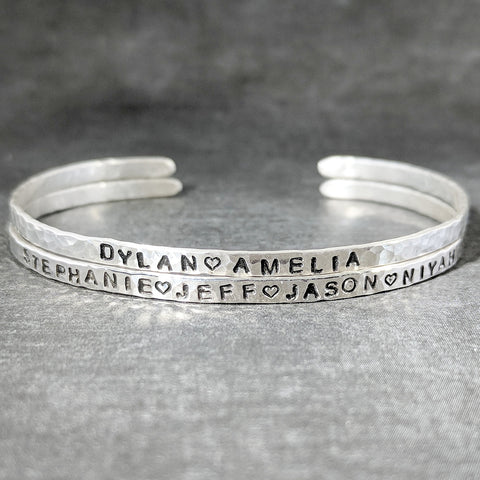 Sterling Silver Name Cuff Bracelet
