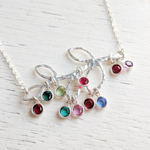 Family Tree Necklace with Birthstones