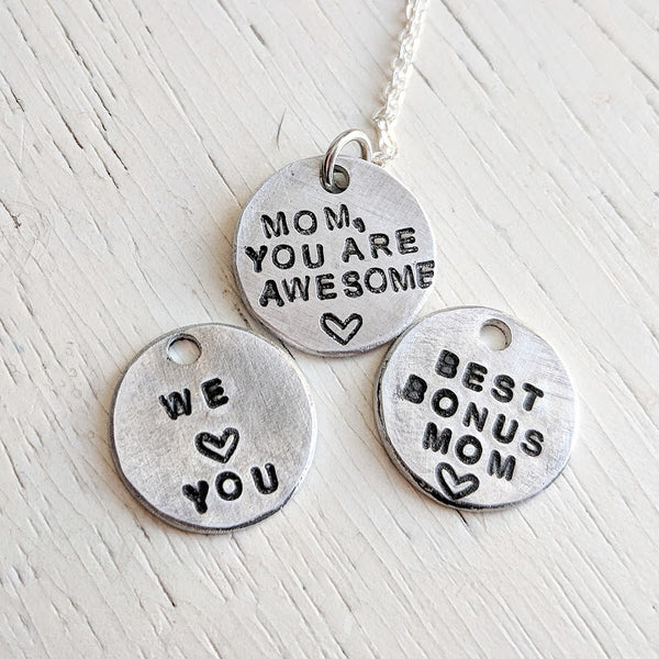 Secret Message Necklace for Mom