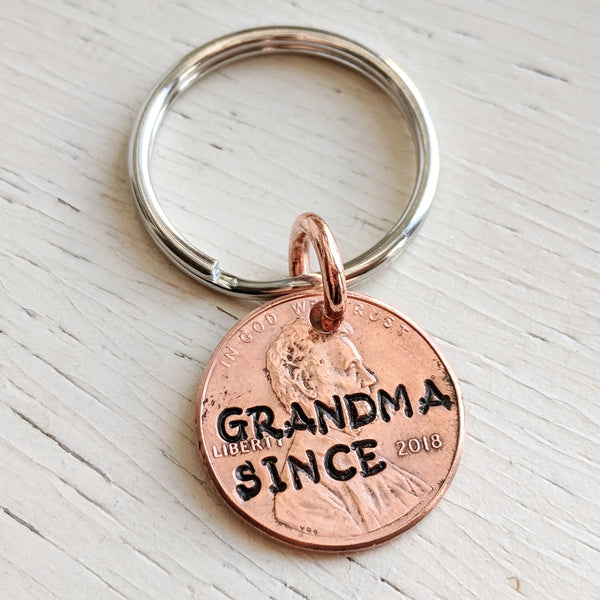Grandma Since 2018 Penny Key Chain