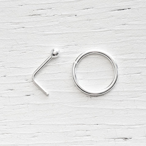 Sterling Silver Nose Ring or Nose Stud