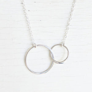 Two Circles Sterling Silver Necklace