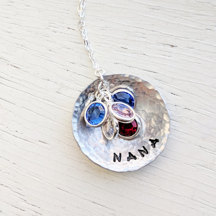 Grandmother Necklace With Birthstones Jenna Scifres Handmade Jewelry