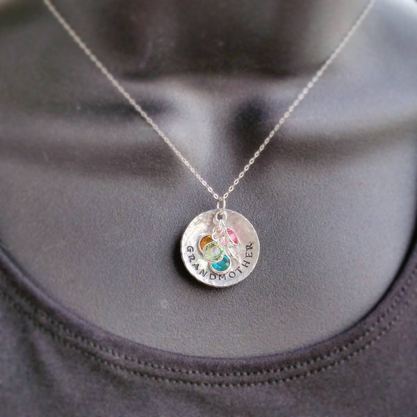 Grandmother Necklace with Birthstones