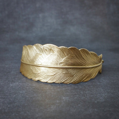 Feather Bracelet - Gold Feather