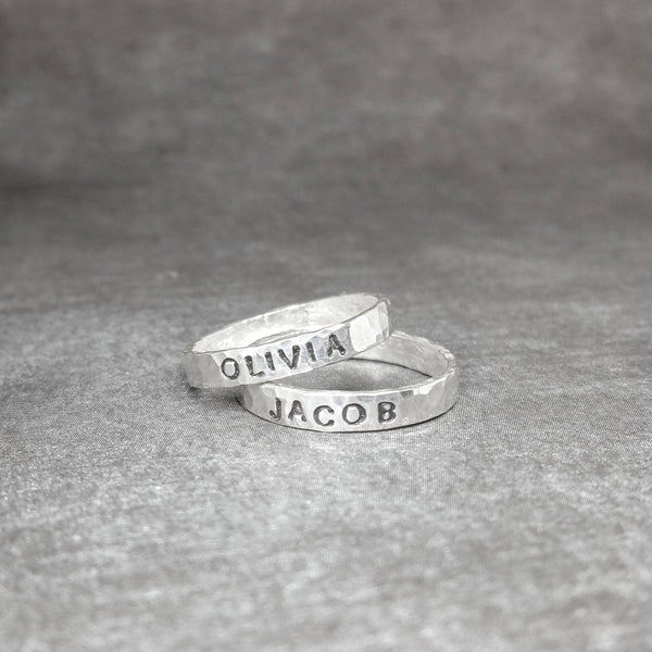 Mother's Rings - Rings for Mom with Kid's Names