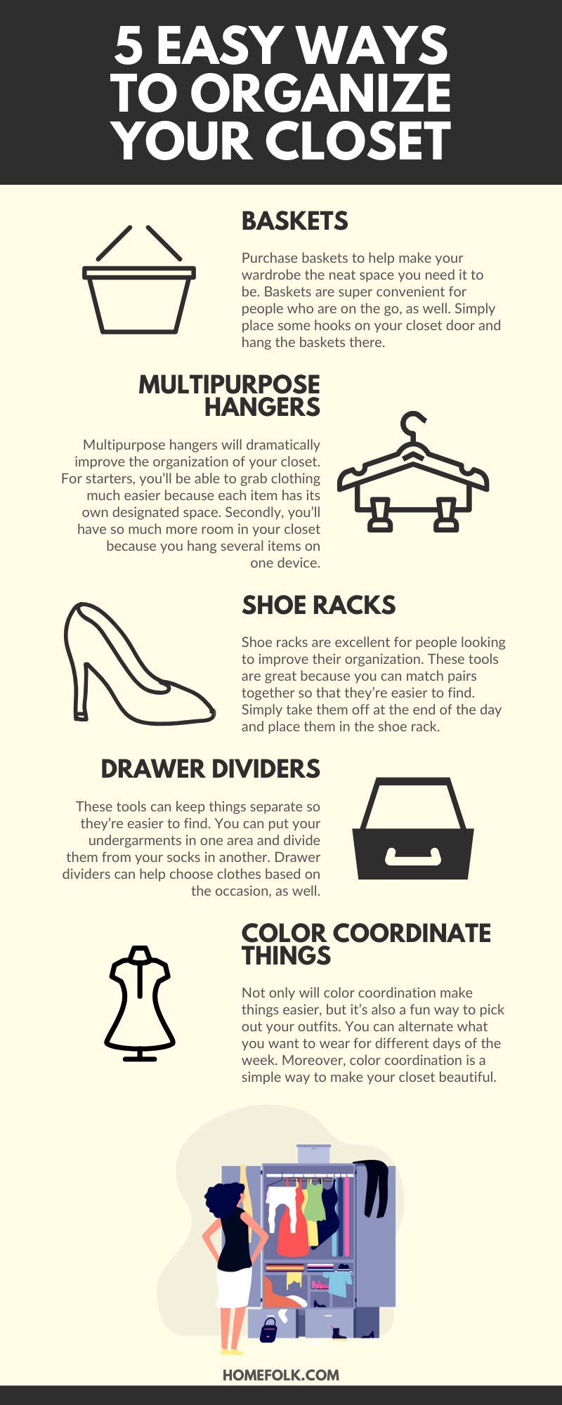 5 Easy Ways to Organize Your Closet