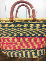 Bolga Standard Shopper Tote with Leather Handles