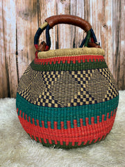 Bolga Pot Belly Basket